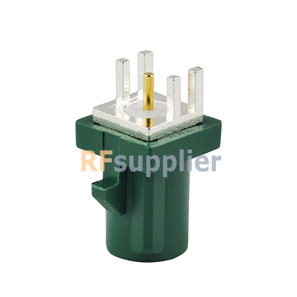 Eightwood Fakra Male PCB Mount Plug End Launch Car Connector Green/6002 TV1 (5PCS)