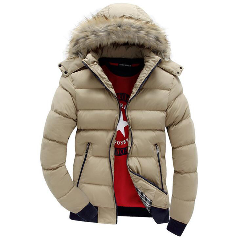 2019 New Winter Jacket Men Brand Clothing Fashion Casual Slim Warm Man Coats Parkas With Hooded Long Overcoats Male Clothes Tops