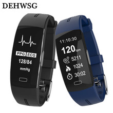 Smart Band ECG+PPG Blood Pressure Heart rate Monitor IP67 waterpoof Pedometer Sports Fitness Bracelet for xiaomi mi band 3 honor(China)