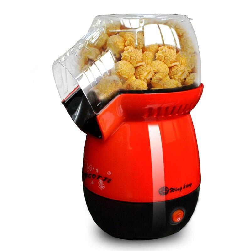 Household Children Popcorn Machine Fashion Mini High Quality Transparent Material One-button Operation White Red red button closure high waist skorts
