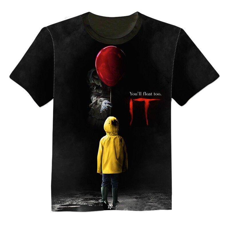 NOVA 3D Impresso T-Shirt do Stephen King É Das Mulheres Dos Homens de 2019 Filme de Horror Palhaço Pennywise