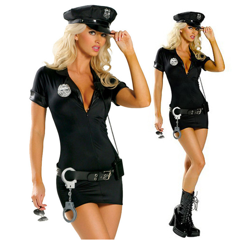 4bd9a4895a5 Sexy Spandex Police Costume Stop Traffic Cop Dresses Sexy Lingerie Plus  Size S