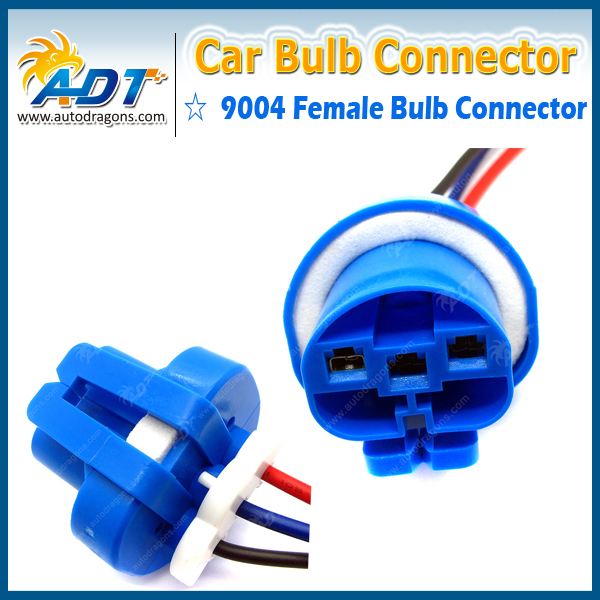 10pcs female socket 9004 hb2 xenon lamp wiring harness for ... 9004 headlight bulb wiring car headlight bulb wiring