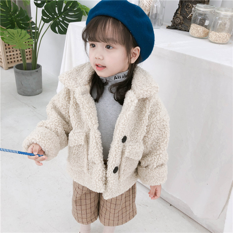 Baby Girl Winter Clothes Baby Girl Clothes Kids Girl Wool Coat Fashion New Toddler Boys and Girls Lambswool Jackets Kids Outwear Wool & Blends     - title=