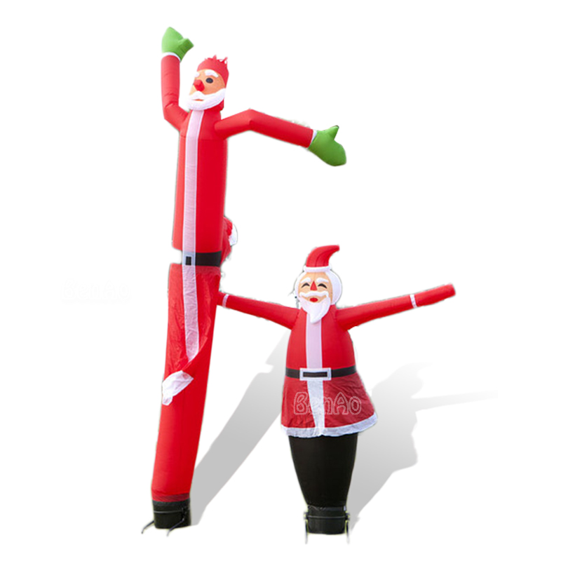 Benao Santa Claus <font><b>inflatable</b></font> air dancer for chirstmas, for outdoor <font><b>billboard</b></font> advertising equipment,,sky dancer image