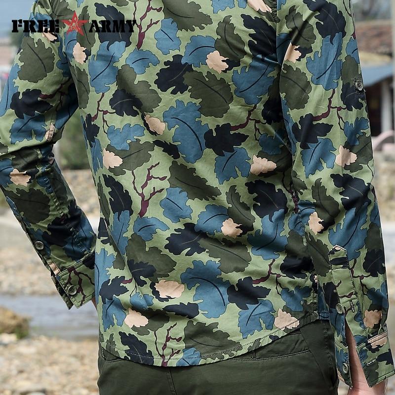 화려한 봄 셔츠 패션 캐쥬얼 브랜드 남성 의류 긴 - 남성 의류 - 사진 5