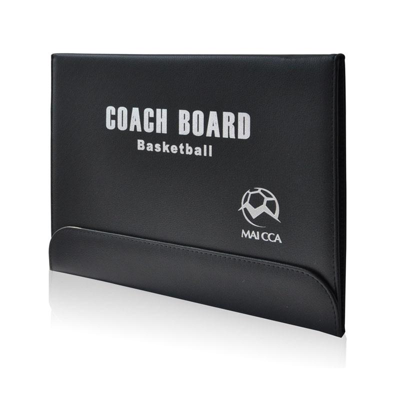 MAICCA Bordi i Trainimit të Basketbollit Folding Magnetik Traineri Bordi taktik i taktikës së librit i vendosur me Clipboard Mësuesin Pen