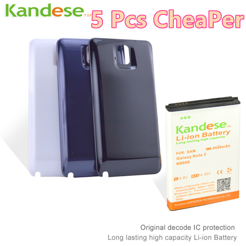 1pcs lot Brand KANDESE 8600mAh Note 3 Business Extend Battery For Samsung Galaxy Note3 N9000 N9005