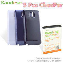 1pcs/lot Brand KANDESE 8600mAh Note 3 Business Extend Battery For Samsung Galaxy Note3 N9000 N9005 + Back black/White Cover Door