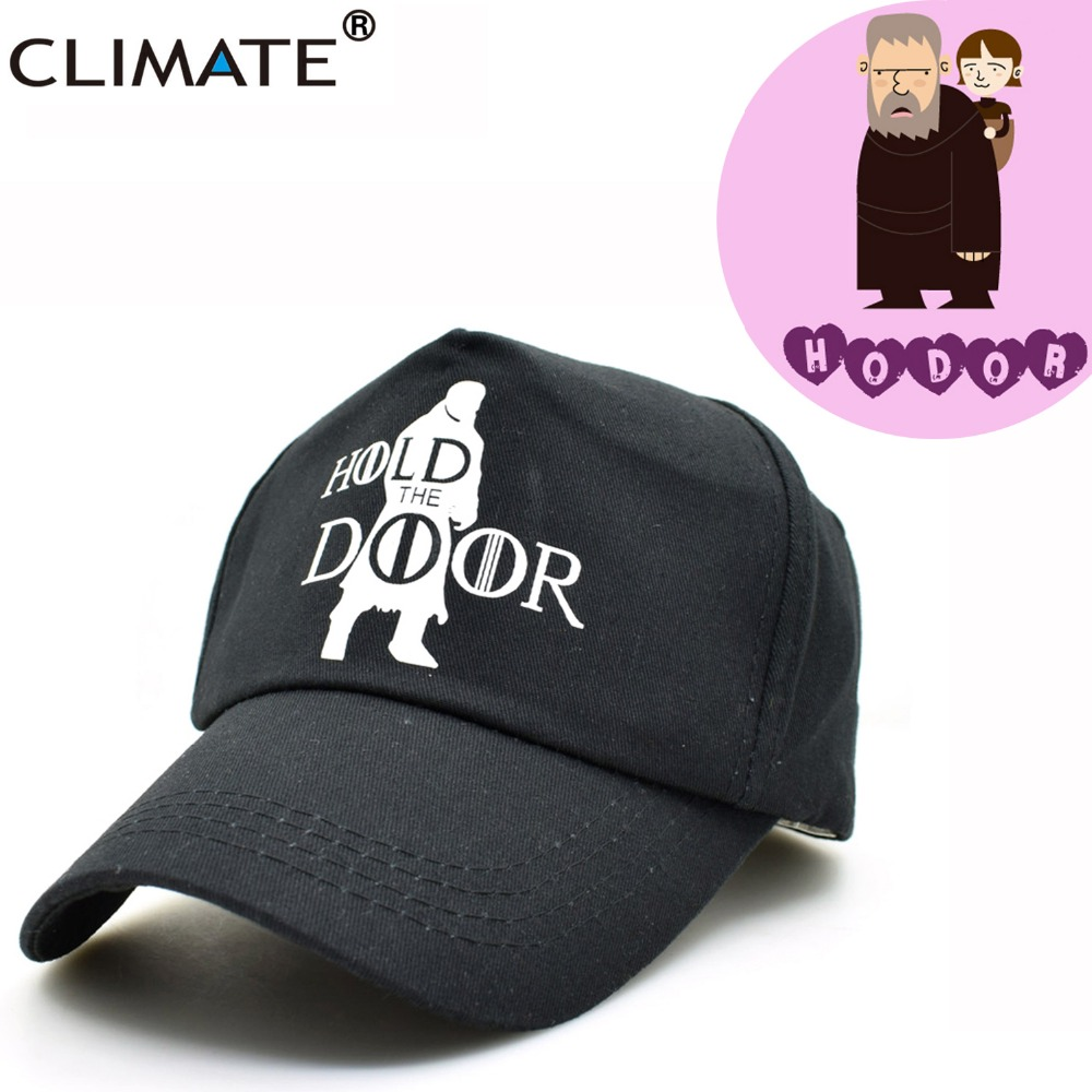 CLIMATE Game Of Thrones Caps Hodor Hold The Door Adjustable Baseball Caps Unisex Men Women Jon Snow Stark Black Cool Hat Caps climate men women no logo brushed best heavy thick massy warm baseball caps twill sports active casual one size adjustable hat