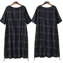 ZANZEA S 4XL 5XL Women Blouse Cotton Linen Top 2018 Summer Long Sleeve Plaid Vintage Split Baggy Blusa Femininas Oversized Shirt