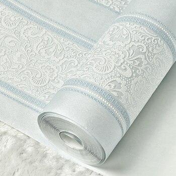Beibehang Duvar Metalik Glitter Beyaz Gümüş Geniş şerit Modern