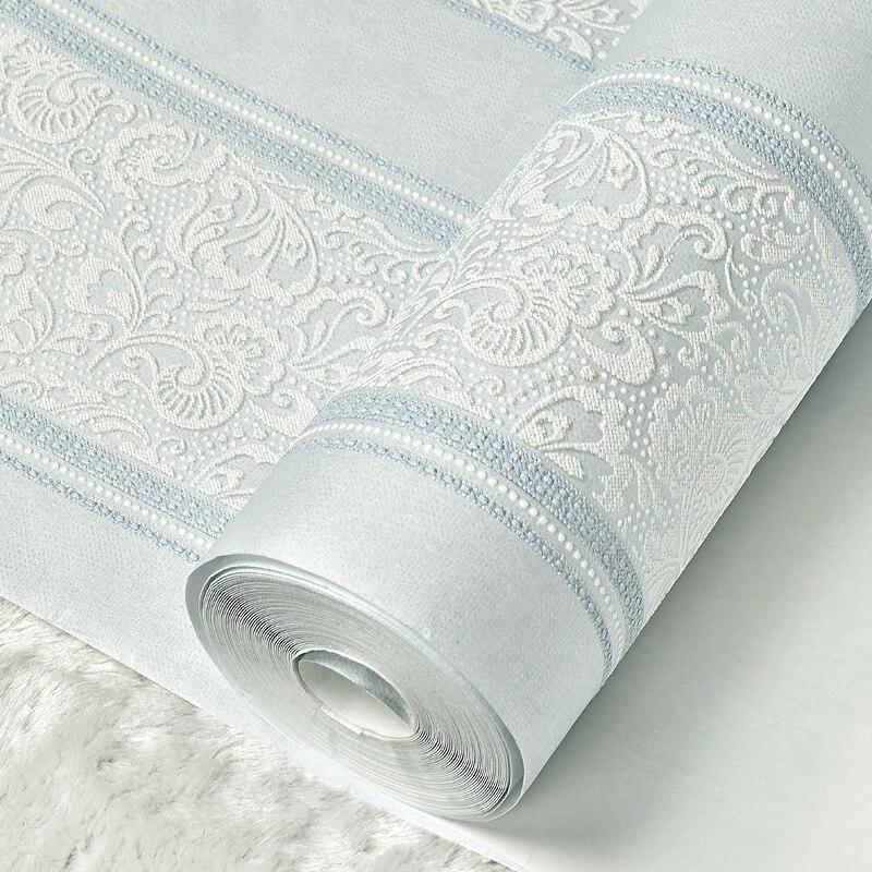 Achetez en Gros blanc métallique papier peint en Ligne à ...