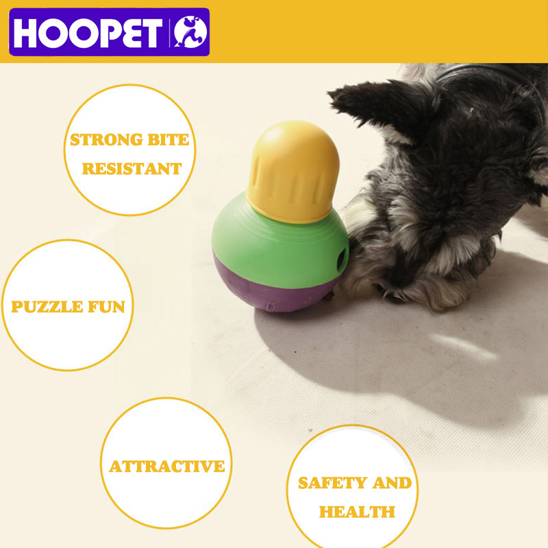HOOPET NEW Dog toy feeding ball leakage food can carry dog food snacks pet toy interactive training ball for dogs