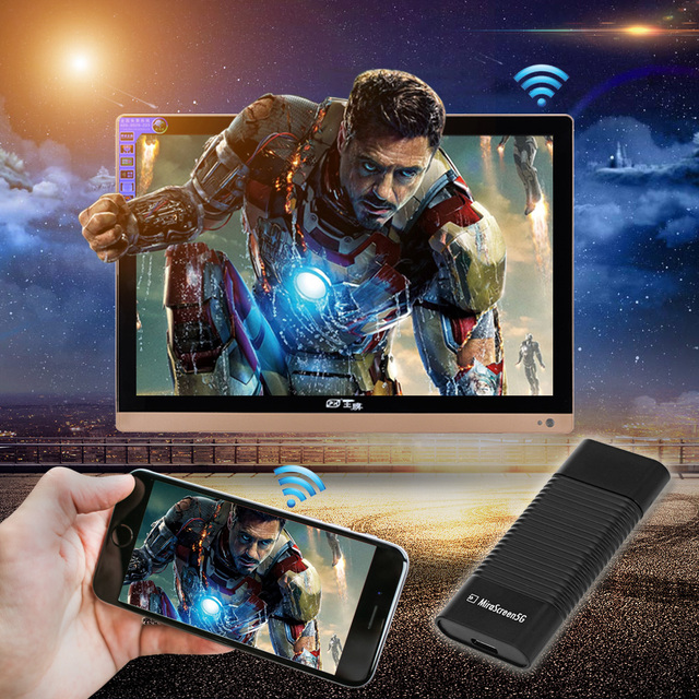 Newest 5G Wi-Fi Display HDMI Receiver MiraScreen TV Stick Dongle DLNA Airplay Miracast Airmirroring Chromecast For Android