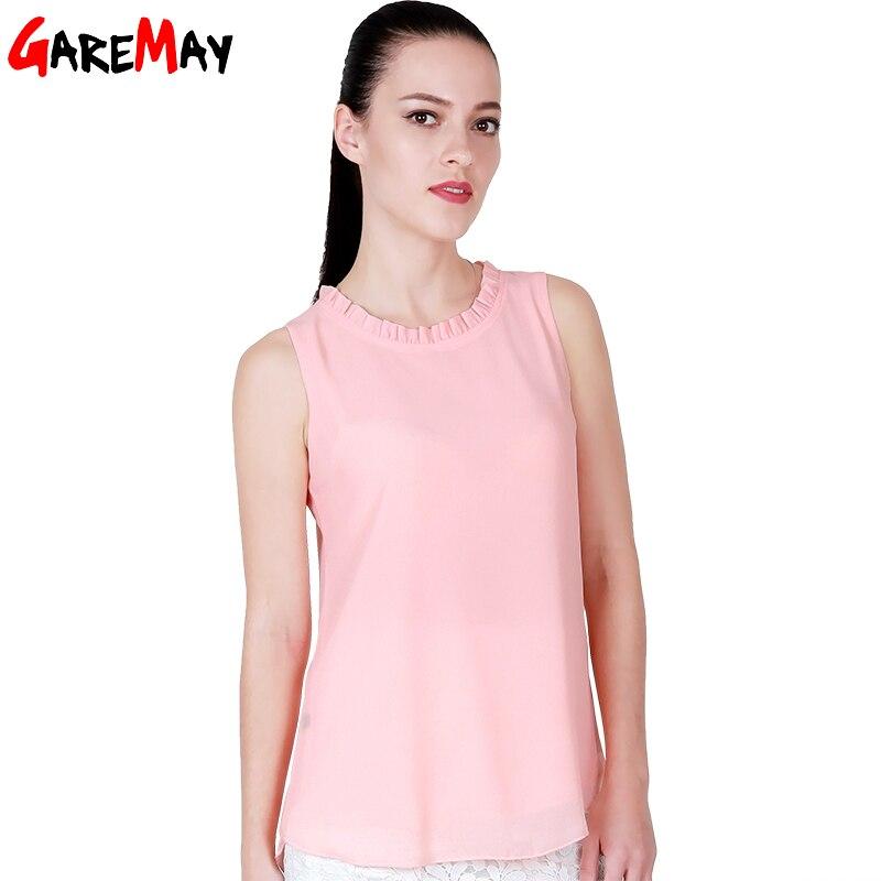 Buy Garemay Shirt Women Summer Chiffon