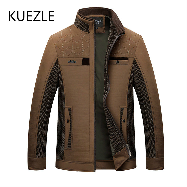 Men Thin Section Spring Fashion Slim Jackets 2018 Man Autumn Locomotive Cotton Jacket Korean Middle Aged Coat Chaqueta Hombre
