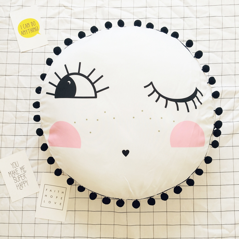 55cm big emoji pillow face plush toy cute round shape soft cushion baby play mat home sofa decoration pillow kids toy ins hot swan soft toy cute ballerina moon cushion pink home sofa decoration pillow baby appease music doll kidstoy gift for girl