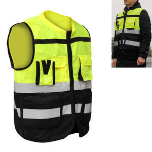 Vest Reflective Traffic Safety High-Visibility Security Cycling-Wear Outdoor Pockets-Design