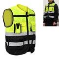 Светоотражающий Жилет высокой видимости с карманами, дизайнерский светоотражающий жилет, уличная одежда для безопасности дорожного движе...