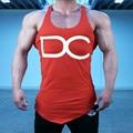 Супермен Singlets Мужские Топы Рубашка, Тренажеры Фитнес мужская Золотые Стрингер Майка Одежда