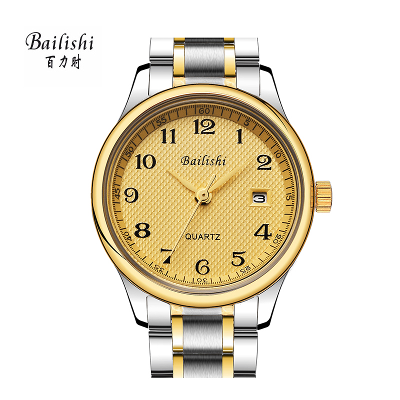 BAILISHI Men Watches Stainless Steel Casual Quartz Watch Men Sports Wristwatch Luxury Brand Quartz Male Watch relogio masculino bailishi top luxury brand men watches diamonds hour stainless steel sports wrist watch male causal quartz male watch waterproof
