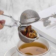 Новая длинная обрабатываемая сетка для заварки чая, шарик для заварки чая, пинцет для заварки чая из нержавеющей стали, шариковый фильтр XSD88
