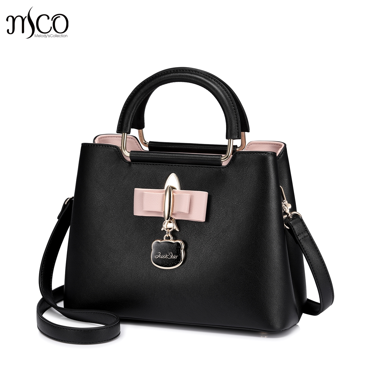 Just star designer brand luxury Pink Bow handbags women Shoulder bags sac a main femme clutch crossbody a bag bolsas feminina handbags women trapeze bolsas femininas sac lovely monkey pendant star sequins embroidery pearls bags pink black shoulder bag