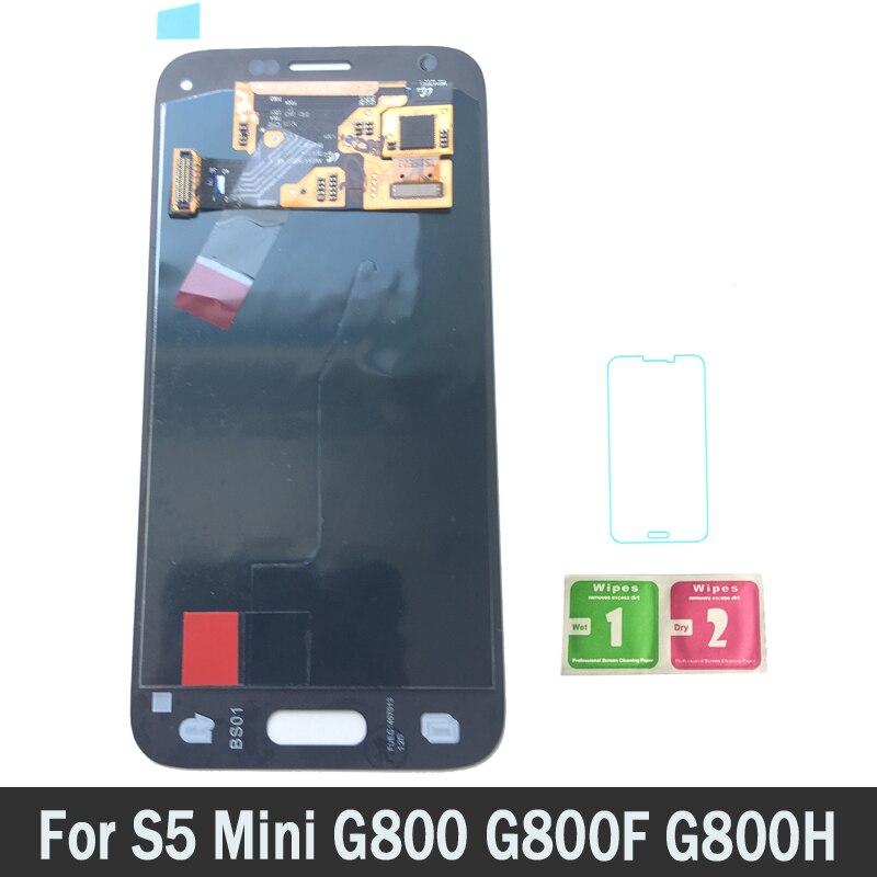 New Super AMOLED LCD Pour Samsung Galaxy S5 Mini G800 G800F G800H LCD Écran D'affichage Tactile Digitizer Assemblée