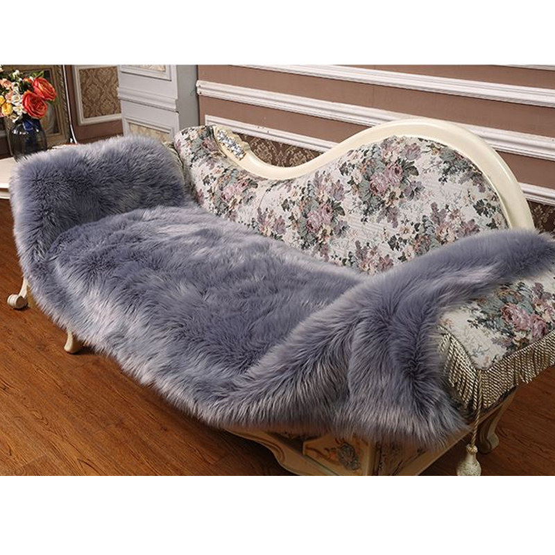 Image Result For Long Fur Artificial Sheepskin Rectangle Fluffy Sofa Bed