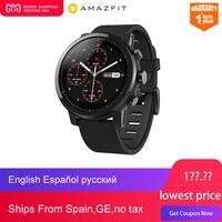 Новый оригинальный Huami Amazfit Stratos Смарт спортивные часы 2 5ATM водостойкий 1,34 '2.5d экран gps Firstbeat одежда заплыва Smartwatch