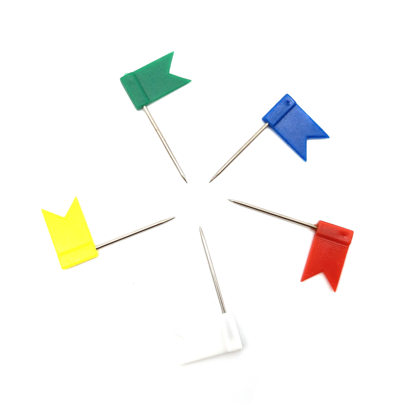 100pcs Color Flag Push Pins Office Home School Supplies Cork Board Map Drawing