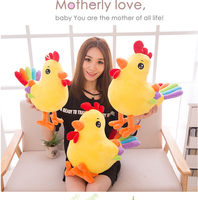 Hot Sale 1Pc 35 55Cm New Plush Toy Super Cute Rainbow Tail Chicken Chinese Zodiac Rooster