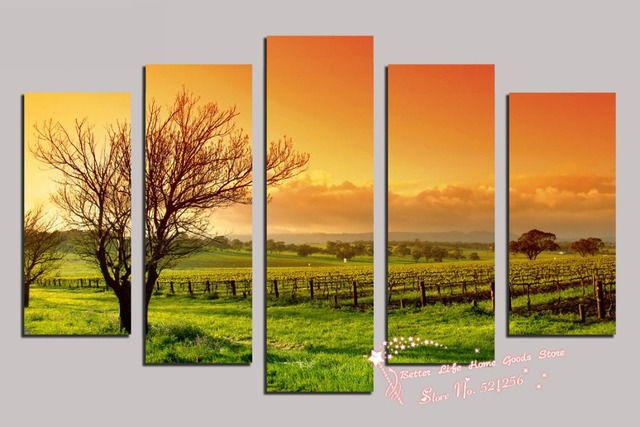 Modern Wall Art Home Decoration Printed Oil Painting Pictures 5 ...