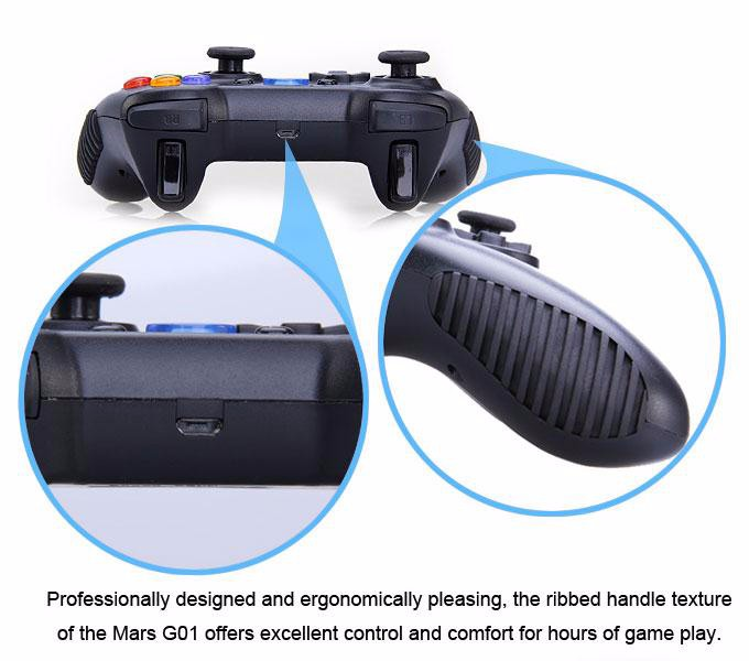 Tronsmart Mars G01 2.4GHz Wireless Gamepad for PlayStation 3 PS3 Game Controller Joystick for Android TV Box Windows (17)-1
