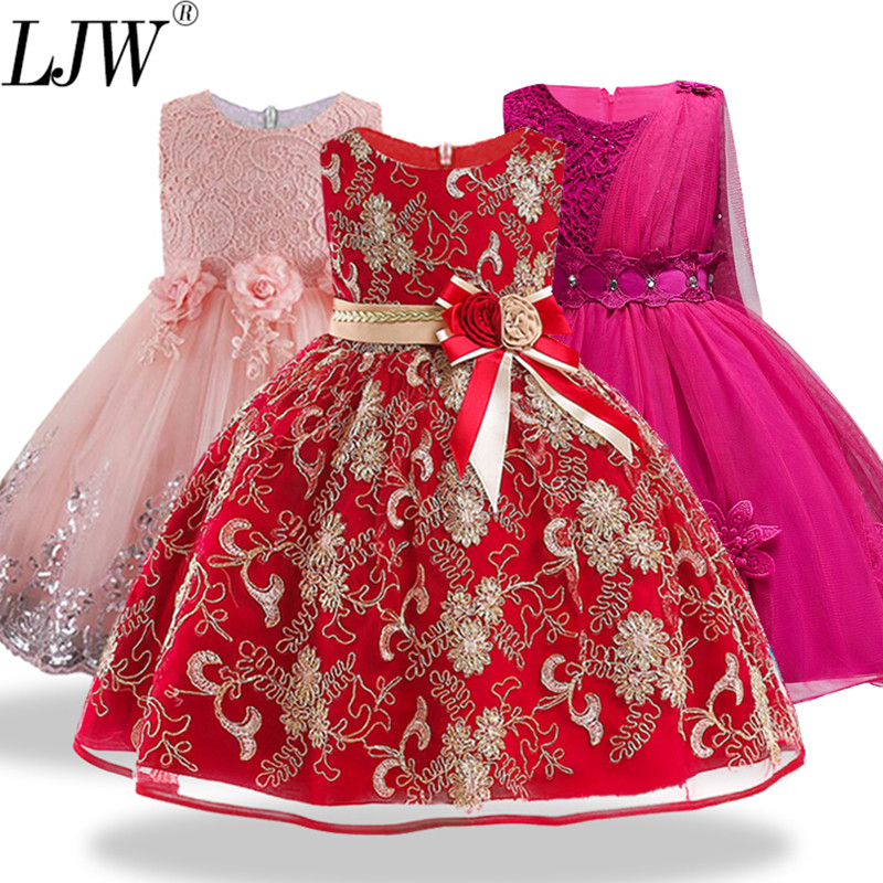 12yrs nuevo bebé arco grande vestido de princesa tutu para niña elegante flor fiesta de cumpleaños niña vestido bebé niña Navidad ropa
