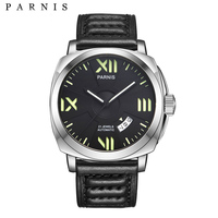 Parnis 44mm Mens Watces Top Brand Luxury Automatic Watch Mechanical Watches Calendar Luminous 100M Swim Gife For Men