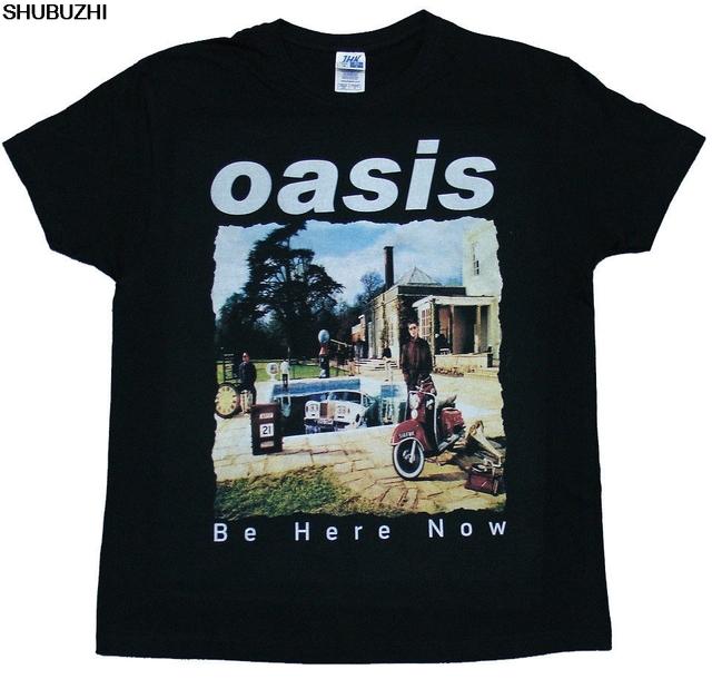 Oasis Be Here Now Black T-Shirt Mans Unique Cotton Short Sleeves O-Neck T Shirt Newest shubuzhi Men'S Fashion sbz4231