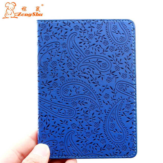 Zongshu  Lavender Passport Holder Cover PU Leather ID Card Travel Ticket Pouch Packages passport Covers passport bag Case