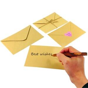 Image 2 - 100 pçs/lote novo vintage diy multifuncional papel kraft envelope 16*11cm presente cartão envelopes para festa de aniversário casamento