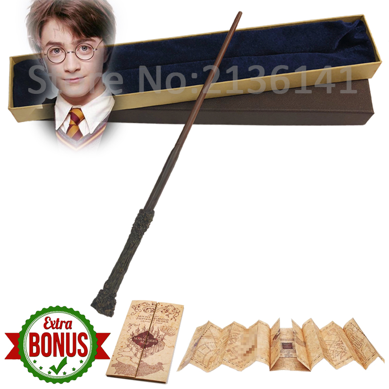 35-41cm New Top Quality Metal Core Snape Dumbledore Magic Wand With Gift Box Cosplay Game Prop Collection Harry Series Toy Stick