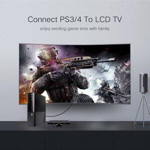 Image 5 - Lungfish CABLE HDMI 3D de alta velocidad 4K, 1080P, para proyector PS3, 1m, 2m, 3m, 24K, chapado en oro, 3840x2160 @ 60Hz