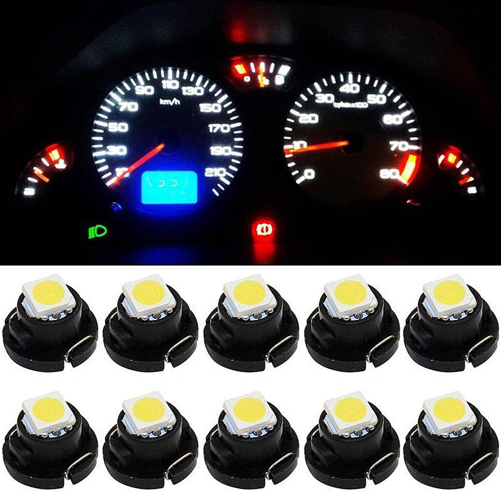 10pcs Car Dashboard Light Panel Speedometer Dash Light Bulbs for T4.2 Led SMD