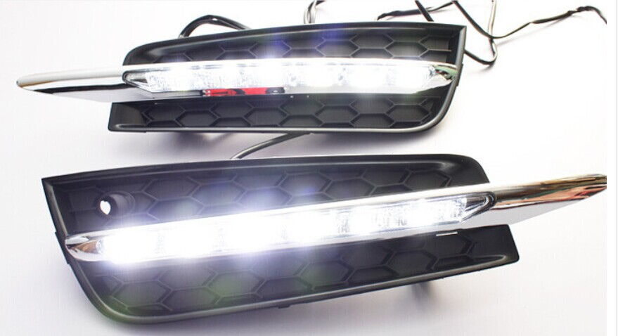 High Quality LED daytime running lights Benz style DRL for Cruze 2009-2012 1:1 replacement fog lamp light high quality light high power led daytime running lights for bmw e90 lci 3 series sedan 15w 2009 2012 freeshipping