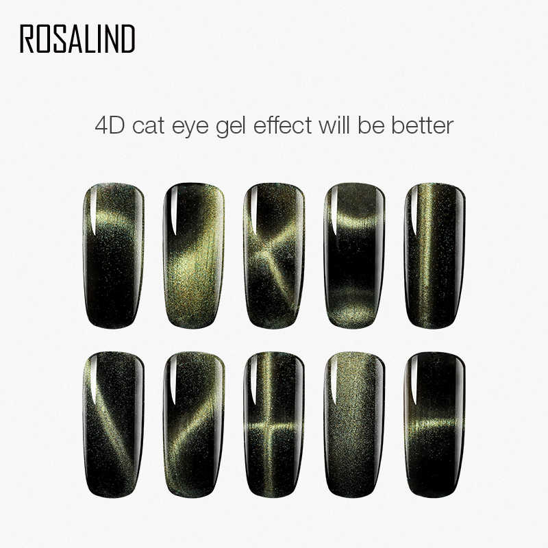 ROSALIND Nagel Magnet Katze Auge Stick Tool Curve UV Gel Für Nägel Magent Set Katze Magnetische Polnischen Lack Stick DIY magie Magneten