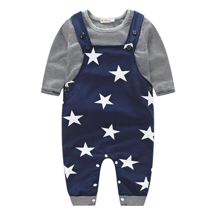 Baby Boys Girls Clothing Set Pants Sets Stripe T-shirt Top Bib Pants Overall Outfits  kids clothes is 0 short for a 2 year old комплект одежды для мальчиков kids clothes sets 2 bib 6m 5y boys clothing sets