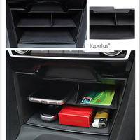 Lapetus Accessories For Honda Civic 2016 2017 2018 Central Control Multifunction Container Storage Box Molding Cover Kit Trim