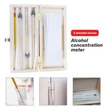 3 шт./компл. 0- спиртомеры Профессиональный алкотестер алкоголь тестер Измеритель концентрации для винных бутылок алкоголя с термометром
