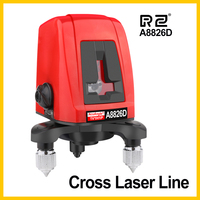 RZ Laser Levels Laser 3D Self Leveling 2 Line Horizontal Vertical Lasers A8826D 360 Tripod Mini Laser
