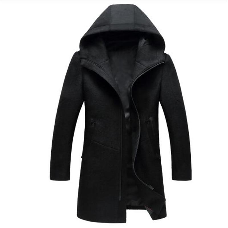 Ynzzu outono inverno jaqueta feminina sólida estilo longo grosso quente com capuz jaqueta feminina à prova de vento solto casaco outwears ao606 - 3